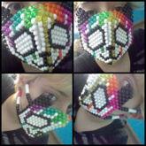 Dripping Rainbow Panda Mask