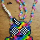 Trippy Narwhal Necklace