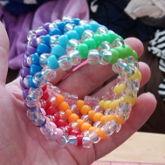 Rainbow Double X Cuff