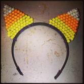 Candy Corn Kitty Ears.