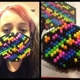 Rainbow Zebra Mask