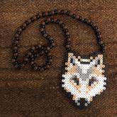 Arctic Wolf Perler Necklace