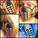 Rainbow Metallic Kandi Mask