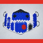 R2D2 Inspired D-Ring Kandi Mask