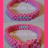 Custom Ordered D-Ring Kandi Pet Collar Made By RivetGiRL Falls