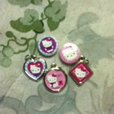 Hello Kitty Charms And Beads From A Kit From Five Below