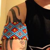Tribal Band Large Cuff On