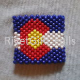 Colorado Flag Kandi Cuff Bracelet