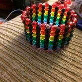 Black And Transparent Rainbow Cuff