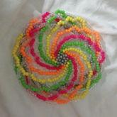 Kandi Beanie- Neon Swirl