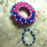 Stitch/angel Themed Cuff And A Blue Single
