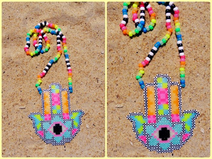 hamsa hand perler by cottonkandi_fairy - Kandi Photos on