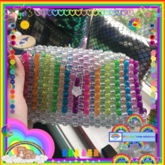 Rainbow Kandi Purse (creds In Desc)