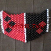 Harley Quinn Inspired D-Ring Kandi Mask By RivetGiRL Falls