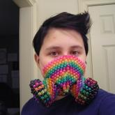 Glitter Rainbow Gas Mask