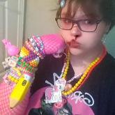 Necklaces & Left Arm With Braceleta!!