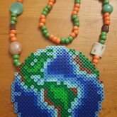 Planet Earth Perler Necklace