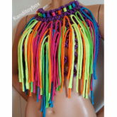 Rainbow Fringe Kandi Halter