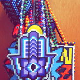 Custom Purple Hamsa