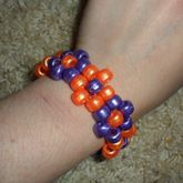 Purple And Orange Flower Cuff