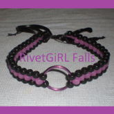 Purple/Black O-ring Choker Collar Bondage Necklace