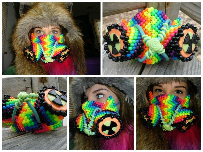 how to put on a rave mask