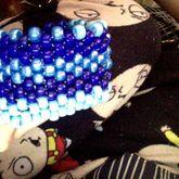 Blue Bead Cuff