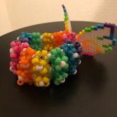 Rainbow Wings Kandi Cuff