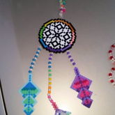 Rainbow Dream-Catcher Perler