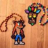 Crash Bandicoot And Aku Aky Perler Necklaces
