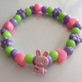 Pastel Spring Easter Bunny Flower Heart Single