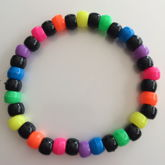 Neon Rainbow And Black Single