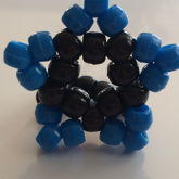 Black And Blue Star Ring