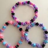 Black Baby Pink Blue Lavender Star Singles