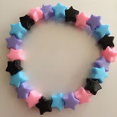 Black Pastel Pink Blue Lavender Star Single