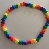 Neon Rainbow Star Necklace