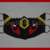 Umbreon Inspired D-Ring Kandi Mask