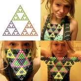 Sierpinski's Triangle Bandana!