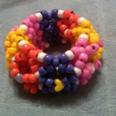 Purple Red Yellow Pink 3D Cuff
