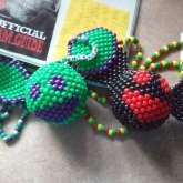 Green And Black 3D Deadmau5 Kandi Heads