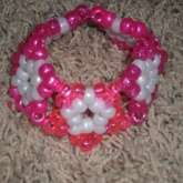 Pink And White Star Cuff!