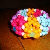 Pink, Orange, Blue, Purple 3D Cuff