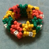 Red Yellow Green 3D Cuff