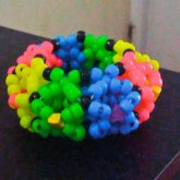 Pink Yellow Green Blue 3D Cuff