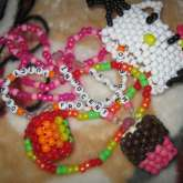 Hello Kitty Cuff(: && Mango & Muffin Necklaces.